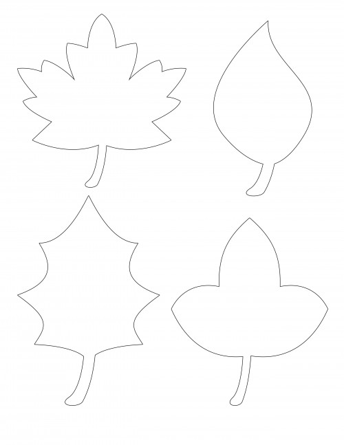 It is a graphic of Leaves Stencil Printable inside template printable